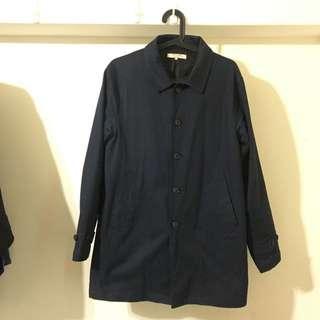 藍色 中長版 外套 L號 購於heavyuse 8.5成新