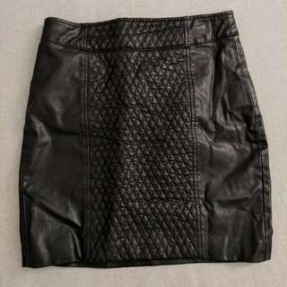 ZARA Trafaluc Faux-leather Mini Skirt