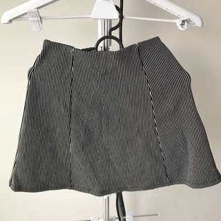 Bershka A-line Stripped Mini Skirt