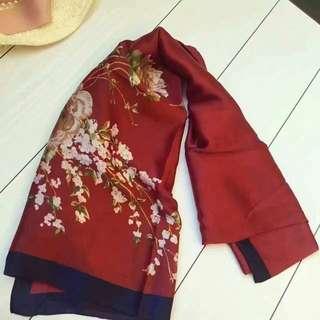 WJ047#春款【旅游推薦】時尚印花百搭絲巾