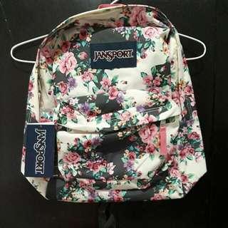 Tas Backpack Jansport Women Super Break Multi Grey Floral Flourish