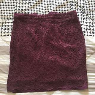 F21 Lace Skirt
