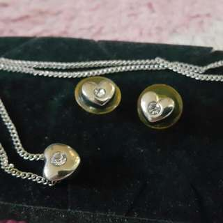 Heart Earrings And Necklace Set