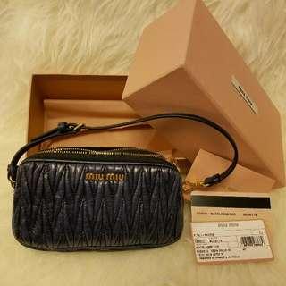 Brand New MIUMIU Leather pouch