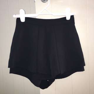 Black panel Shorts