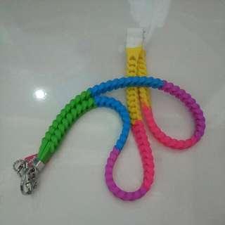 🚚 Smiggle Rainbow Coloured Chain/lanyard