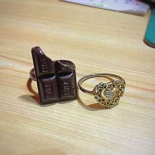巧克力、愛心 戒指 可分開