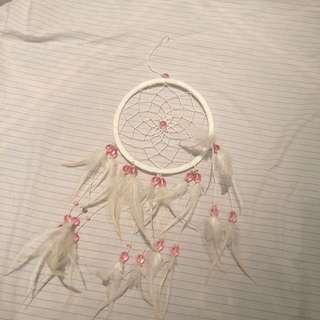 White N Pink Dreamcatcher