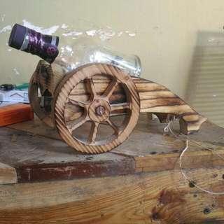 Cannon mini wood liquor stand