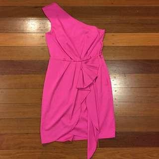 BCBGeneration Pink Cocktail Dress. Sz 2 (8 Aus)
