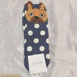 韓國狗頭襪子