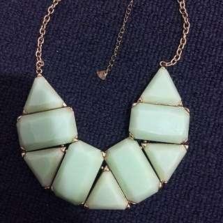 Mint Golden Chain Necklace
