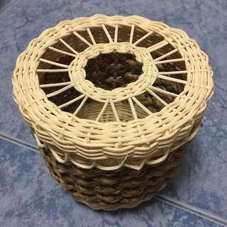 BN Rattan/Basket Toilet Roll Holder