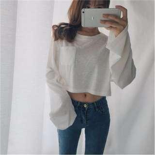 ✨ [PO] Ulzzang Crop Pullover ✨