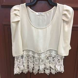 Beige Boxy Top