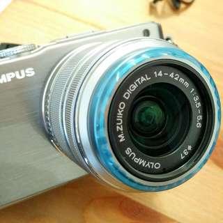 Olympus E-PL3 14-42變焦鏡 不含機身panasonic Lumix GF GX系列可通用 銀色 近全新