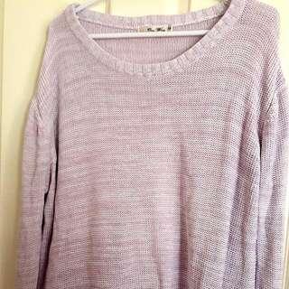 Knit Sweater S (Purple)