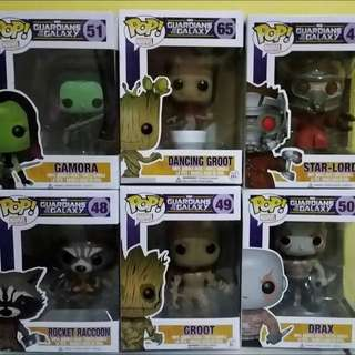 Funko Pop Guardians of the Galaxy (set of 6)