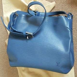 Authentic Louis Vuitton Myrtille Blue Epi Leather