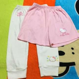 Lot of 2 Newborn Hello Kitty Pajamas & Shorts