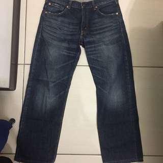 Levis 503 刷紋牛仔褲 深藍 W31