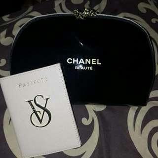 Set Chanel Pouch & Passport Case Vs