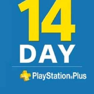 PSN PLUS 14 DAY TRIAL Account  Online Delivery
