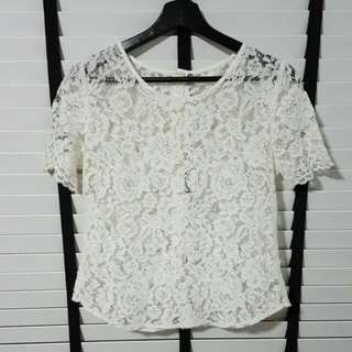 Lace Top (White)