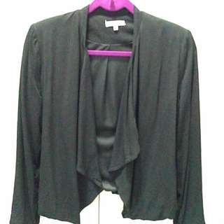 Valleygirl Black Drape Cardigan