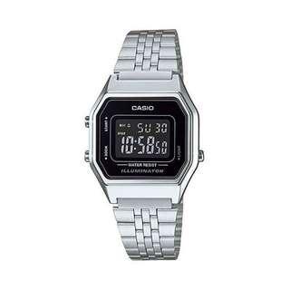 Casio Watch LA680WA-1BDF Standard Digital Women Silver Strap (ORIGINAL)