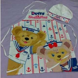 🚚 【黑人嚴選】香港迪士尼Duffy﹠ShellieMay 達菲熊 ·  雪莉玫廚師帽及圍裙