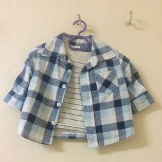 Blue White Flannel
