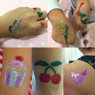 Glitter Tattoos For Birthday Parties