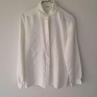 Vintage White Blouse