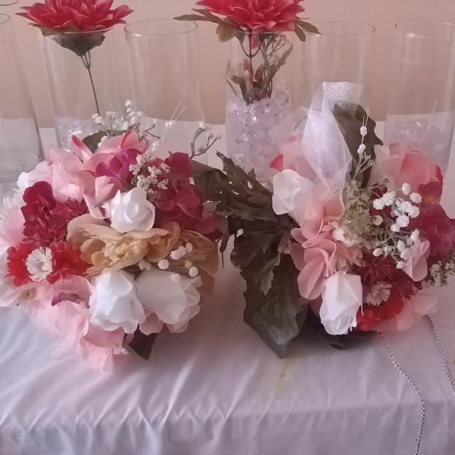 2 Wedding Flower Balls