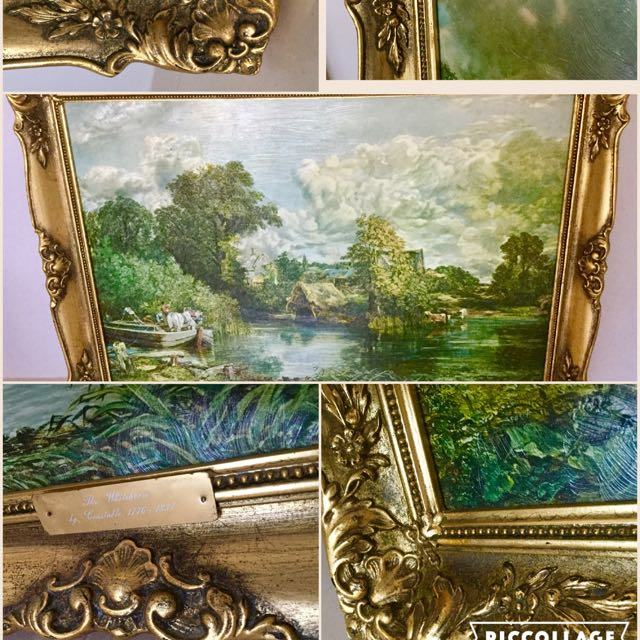 2 X Gold Trim Framed Constable Prints
