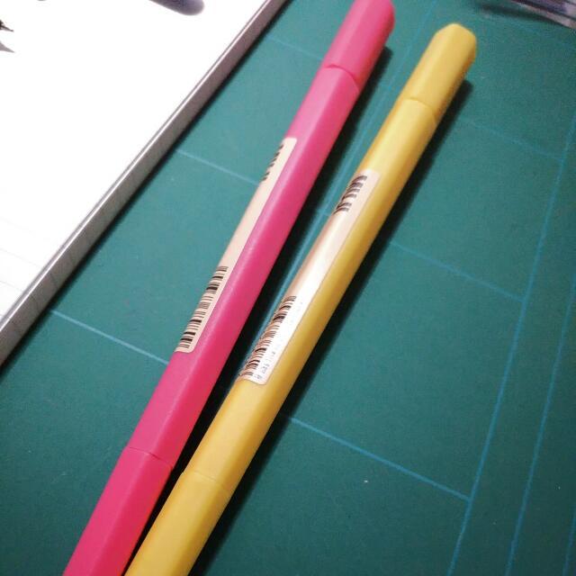 無印良品 六角水性雙頭筆
