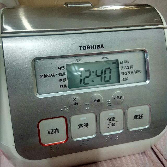 東芝 電子鍋 3人份 Toshiba 二手 功能正常 厚釜鍛造