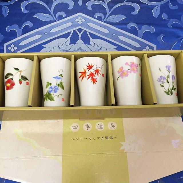 日本帶回 高質感瓷器杯 五組入(日本製)