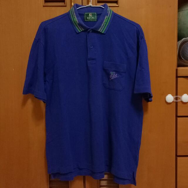 古著 復古 老品 稀有 Polo衫 短袖 紫色 圖騰領 幾何領 刺繡