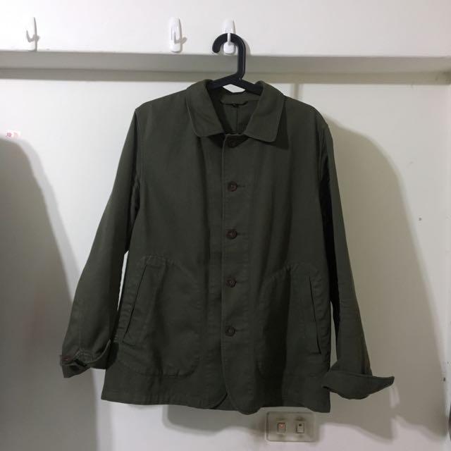 無印良品 軍綠色外套 L號 9成新