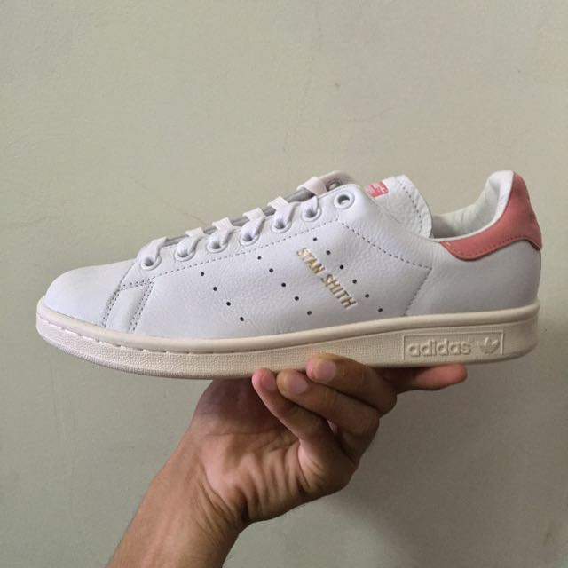 Assez Adidas Stan Smith Vintage Mens and Women's Ray Pink/White/Gold  GI09
