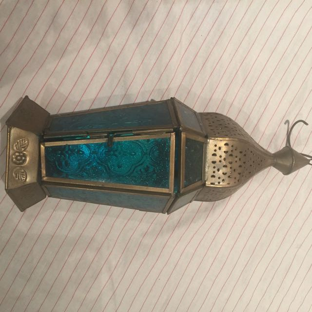Antique Lookin Candle Holding Lantern