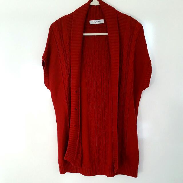 Arcadia Red Knit Coat