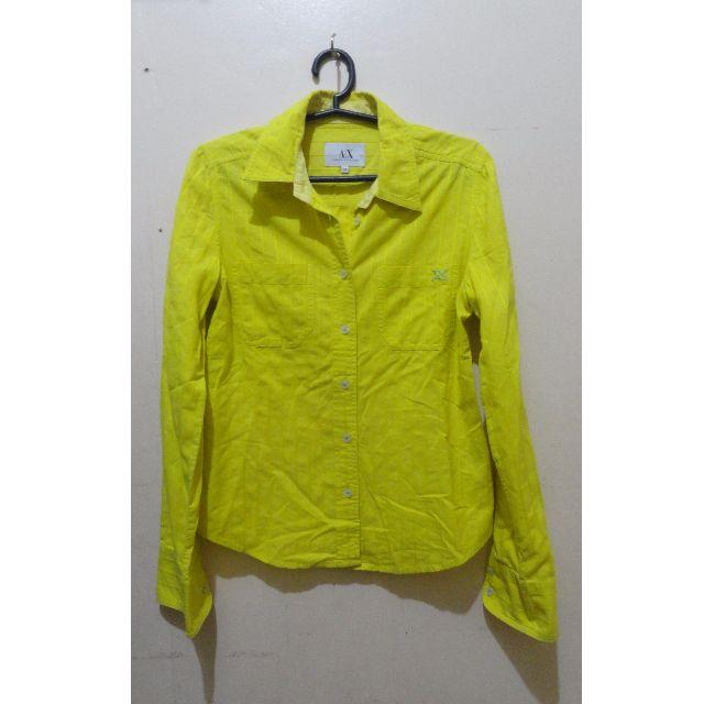 Armani Exchange: Yellow Polo (XS)