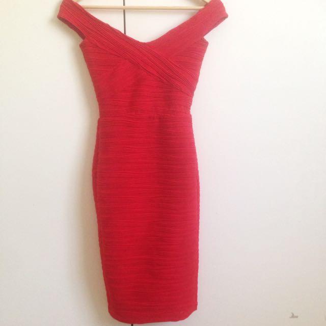 ASOS Flattering Off The Shoulder Midi Dress
