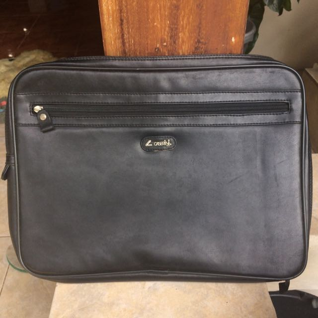 Authentic Caserini Black Hand Bag
