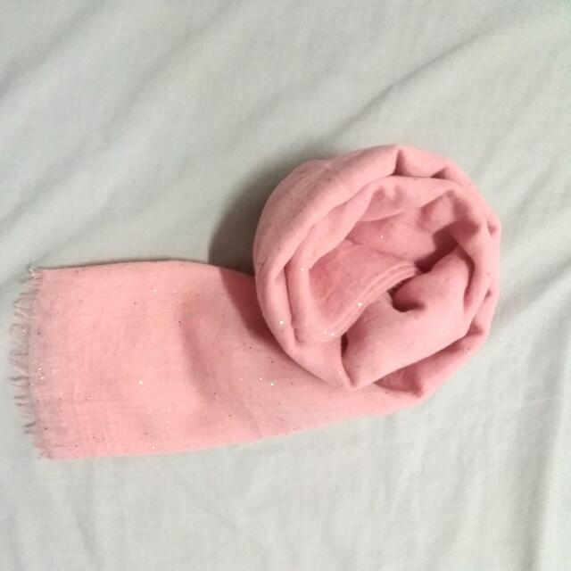 Baby Pink Pashmina Rawis