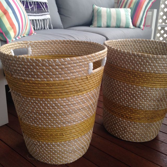 Baskets For Laundry Or Plant Pot Or Toy Storage