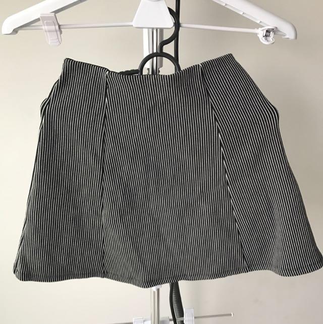 Bershka A-line Stripped Mini Skirt
